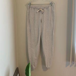 Lululemon Sattva pants in heathered white